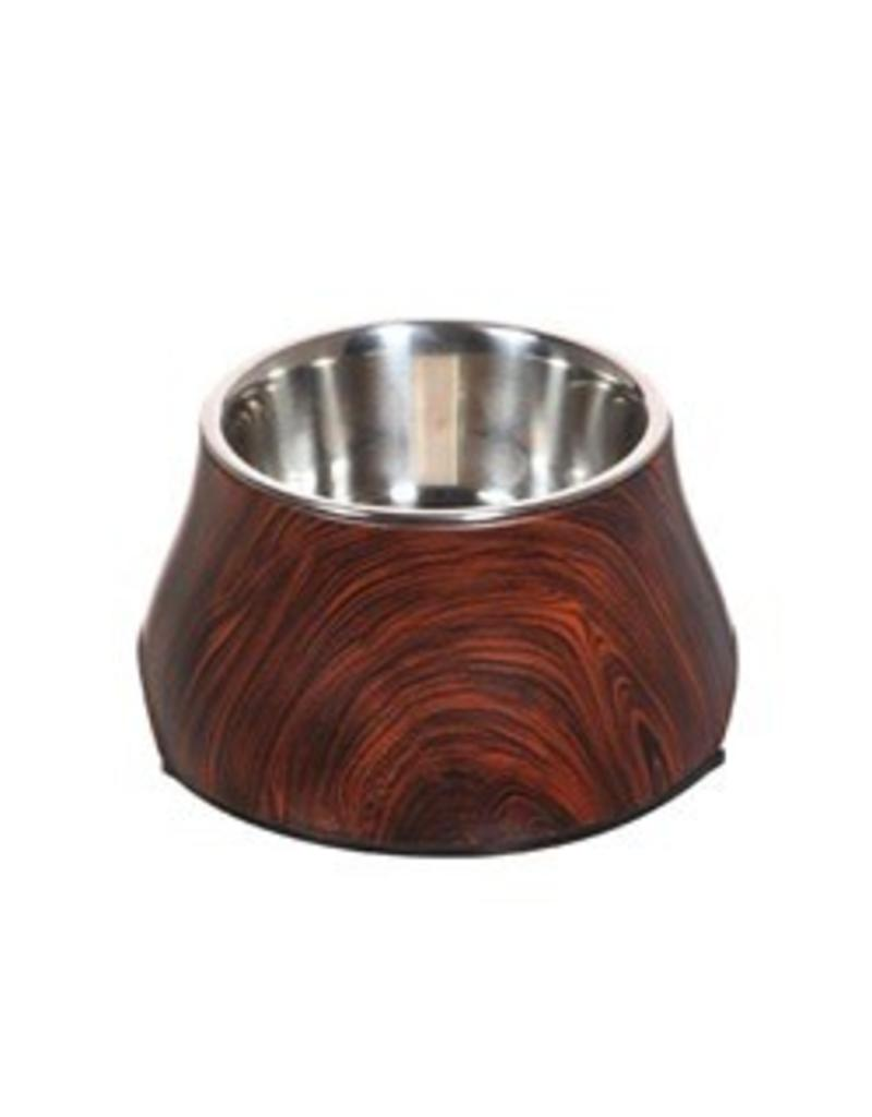 Dogit Design Dog Dish with Wood Finish Pattern