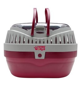 Living World Carrier, Large, Red/Gray