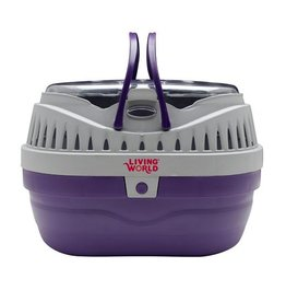 Living World Carrier, Small, Purple/Gray