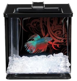 Marina Betta EZ Care Aquarium, Black w/LED
