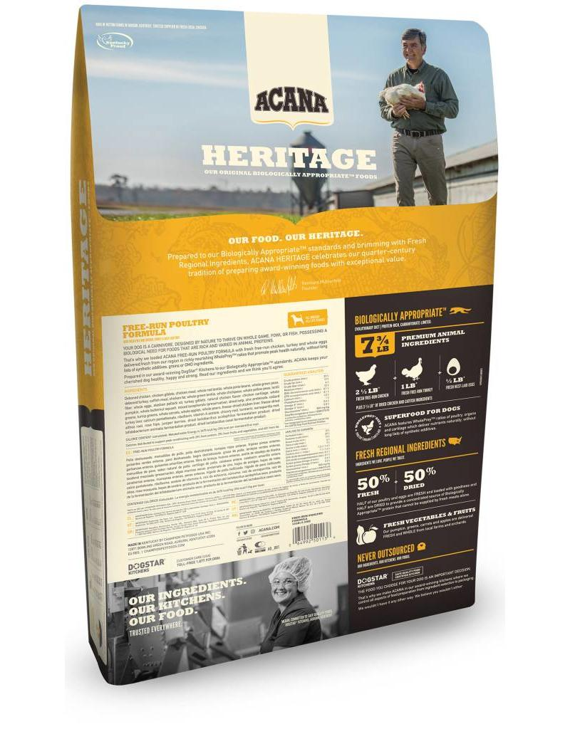 Acana Heritage Free Run Poultry 25lb