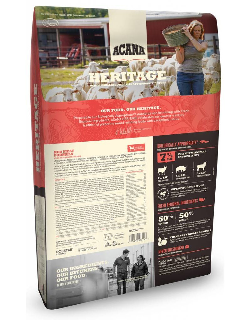 Acana Heritage Red Meat 25lb