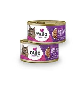 Nulo Cat & Kitten Shredded Beef & Rainbow Trout Recipe in Gravy 3oz