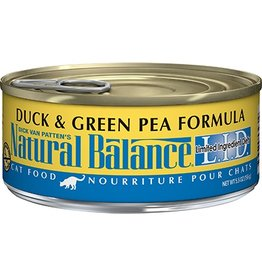 Natural Balance Duck & Green Pea Canned Cat Formula LID, 5.5oz