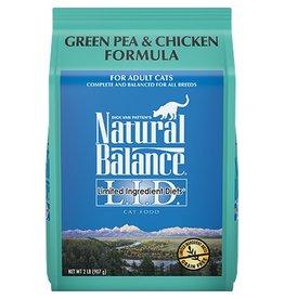 Natural Balance Green Pea & Chicken Dry Cat Formula LID, 5lb