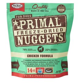 Primal Canine Freeze-Dried Raw Nuggets Chicken 14oz