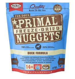 Primal Canine Freeze-Dried Raw Nuggets Duck 14oz