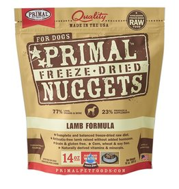 Primal Canine Freeze-Dried Raw Nuggets Lamb 14oz