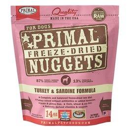 Primal Canine Freeze-Dried Raw Nuggets Turkey & Sardine 14oz