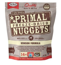 Primal Canine Freeze-Dried Raw Nuggets Venison 14oz