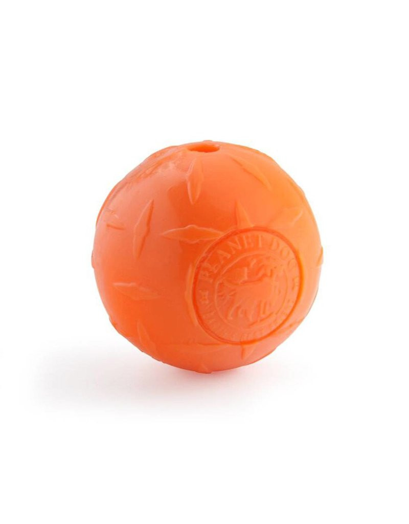 Planet Dog Orbee-Tuff Diamond Plate Ball Medium Orange