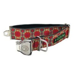 Cycle Dog Collar Kaleidoscope Red and Orange Large