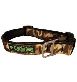 Cycle Dog Collar Camo Brown Large