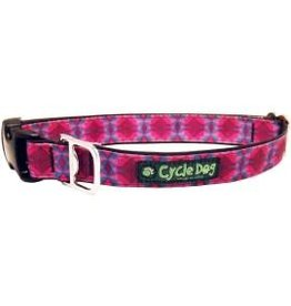 Cycle Dog Collar Kaleidoscope Fuchsia and Teal Large