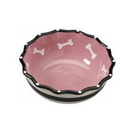 Ethical Pet Contemporary Ruffle Dog Dish Pink 7""