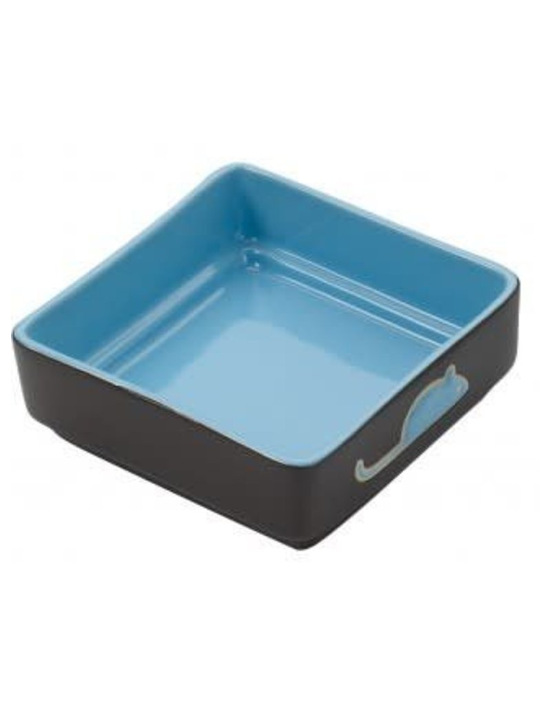 Ethical Pet Square Cat Dish Blue 5in