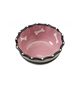 Ethical Pet Ruffle Dog Dish Pink 5in