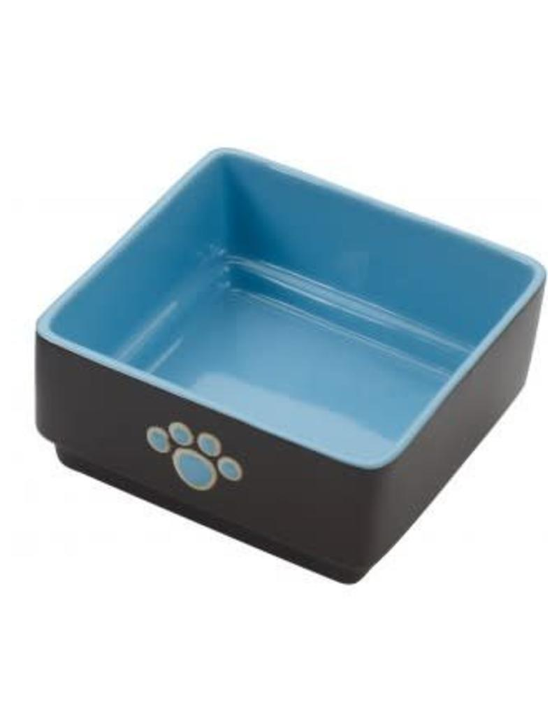 Ethical Pet Square Dog Dish Blue 5in