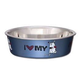 Loving Pets Bella Bowls Expressions  I Love My Dog 15oz