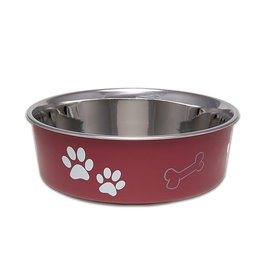 Loving Pets Bella Bowls Classic – Merlot Medium