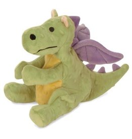 GoDog Dragons Small Lime with Chew Guard Technology Tough Plush Dog Toy