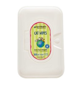 Earthbath Cat Wipes Green Tea 100ct
