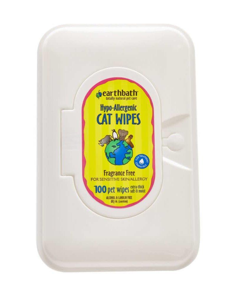Earthbath Cat Wipes Fragrance-Free 100ct