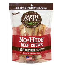 "Earth Animal No Hide Beef Chews 4"" 2 Pk"