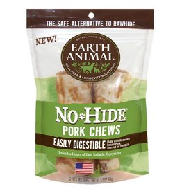 "Earth Animal No Hide Pork Chews 4"" 2 Pk"