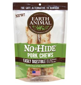 "Earth Animal No Hide Pork Chews 7"" 2 Pk"