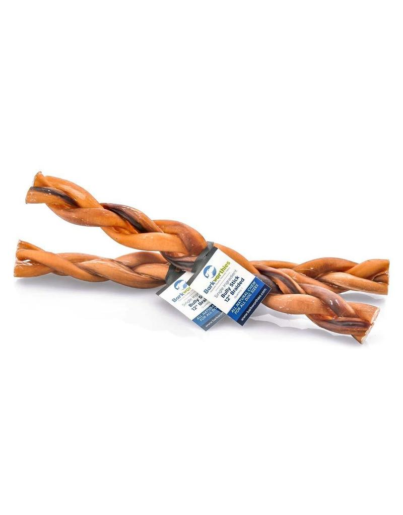 Barkworthies Bully Stick - Braided 12in