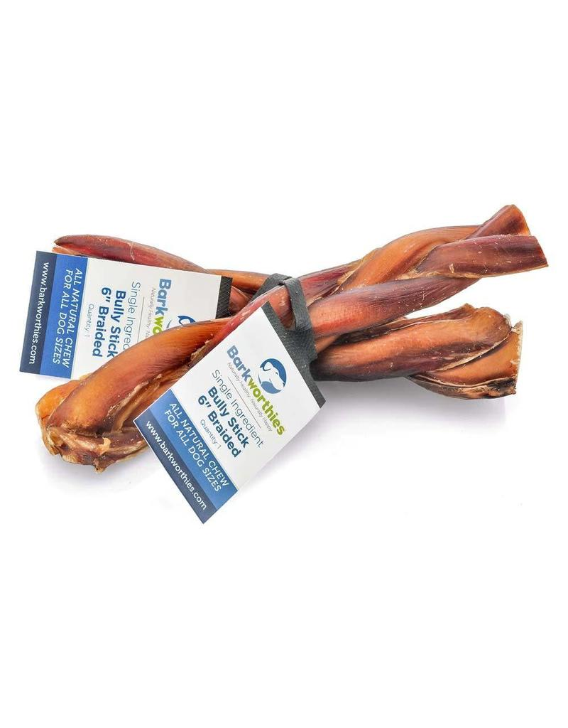 Barkworthies Bully Stick - Braided 6in
