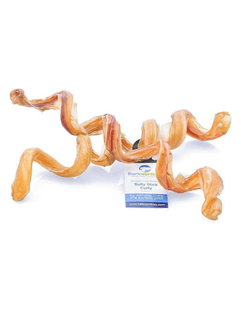 Barkworthies Bully Stick - Curly 5-7in