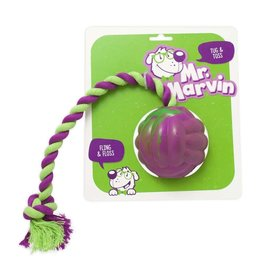 Mr. Marvin Tug & Toss Rubber Ball & Rope