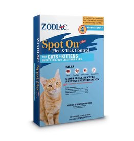 Zodiac Spot On Flea and Tick Cat 5lb 4pk
