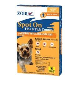 Zodiac Spot On Flea & Tick Control for Puppies 7-15lbs 4pk