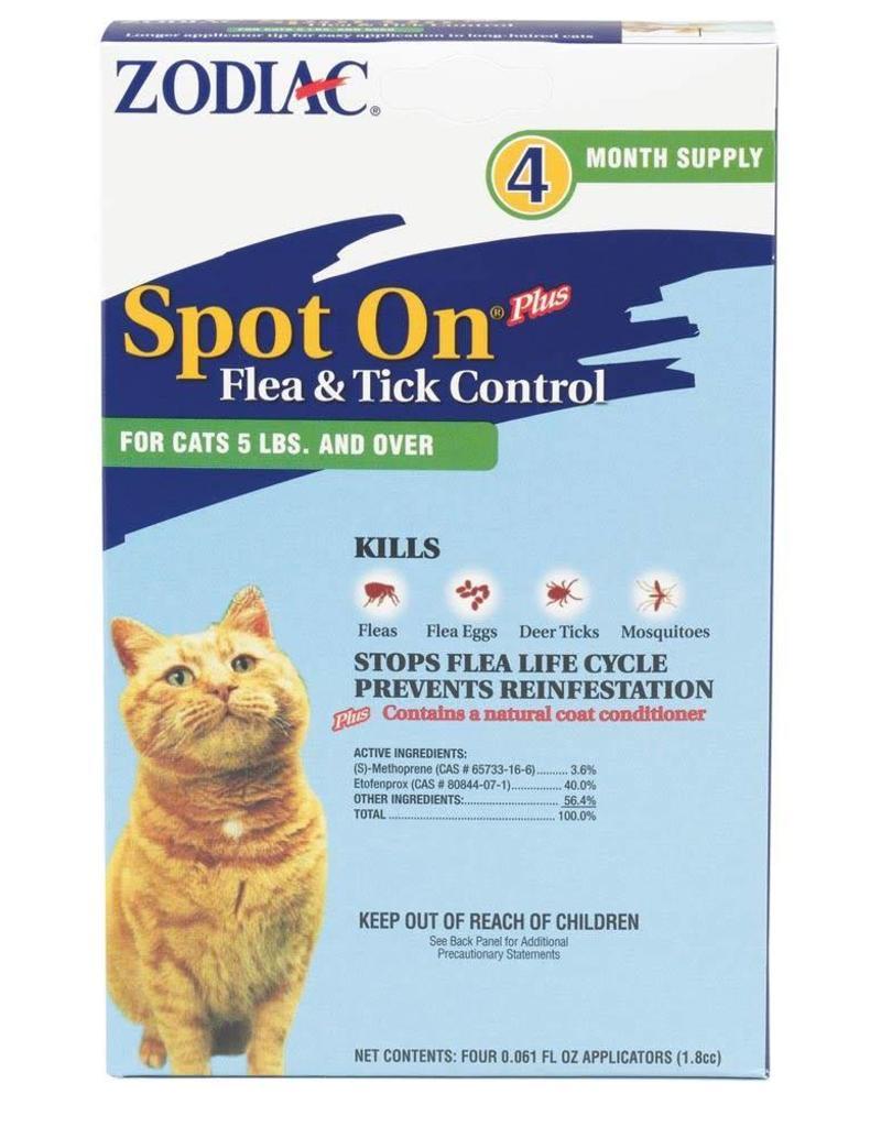 Zodiac Spot On Flea & Tick Cat Over 5lbs 4pk