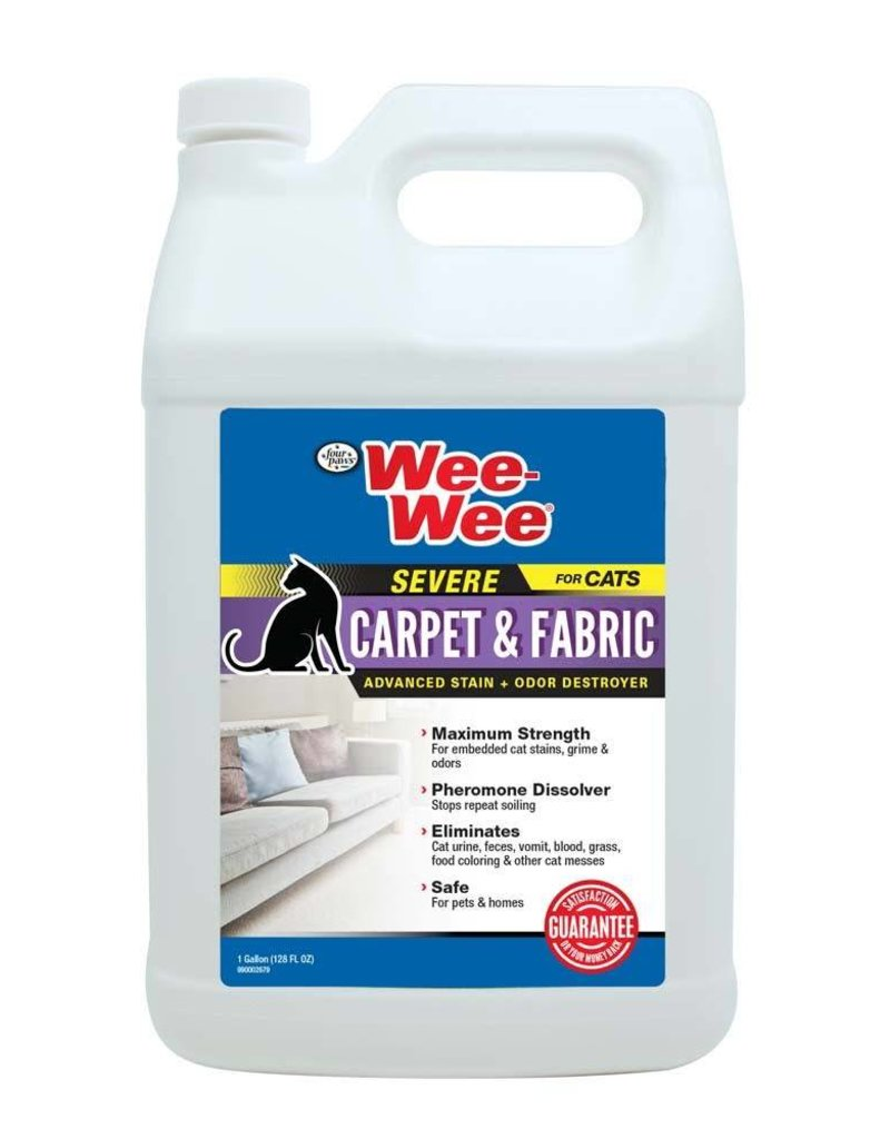 Wee-Wee Cat Carpet & Fabric Severe Stain & Odor Destroyer 128oz