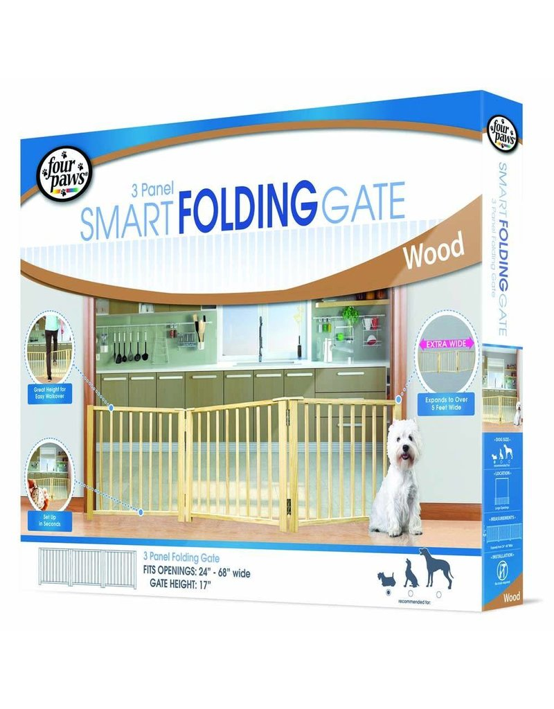 Four Paws Smart Folding Gate 3 Panel