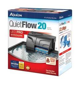 Aqueon QuietFlow 20 LED Pro Aquarium Power Filter 20-30gal