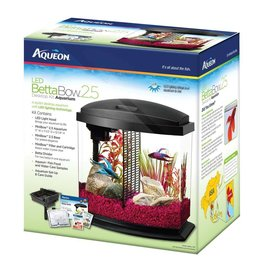 Aqueon Betta Bow LED Desktop Aquarium Kit Black 2.5gal