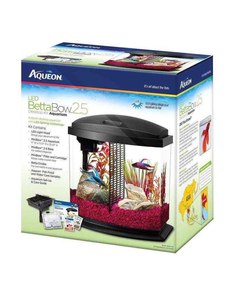 Aqueon Betta Bow LED Desktop Aquarium Kit Black 2.5gal