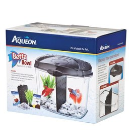 Aqueon Betta Bowl Aquarium Kit for Betta Black .5gal