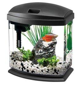 Aqueon LED MiniBow Desktop Aquarium Kit Black 1gal