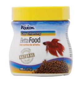 Aqueon Betta Color Enhancing Pellet Fish Food .95oz Jar