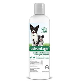 Bayer Advantage Shampoo Flea and Tick Treatment for Dogs and Puppies - 24oz