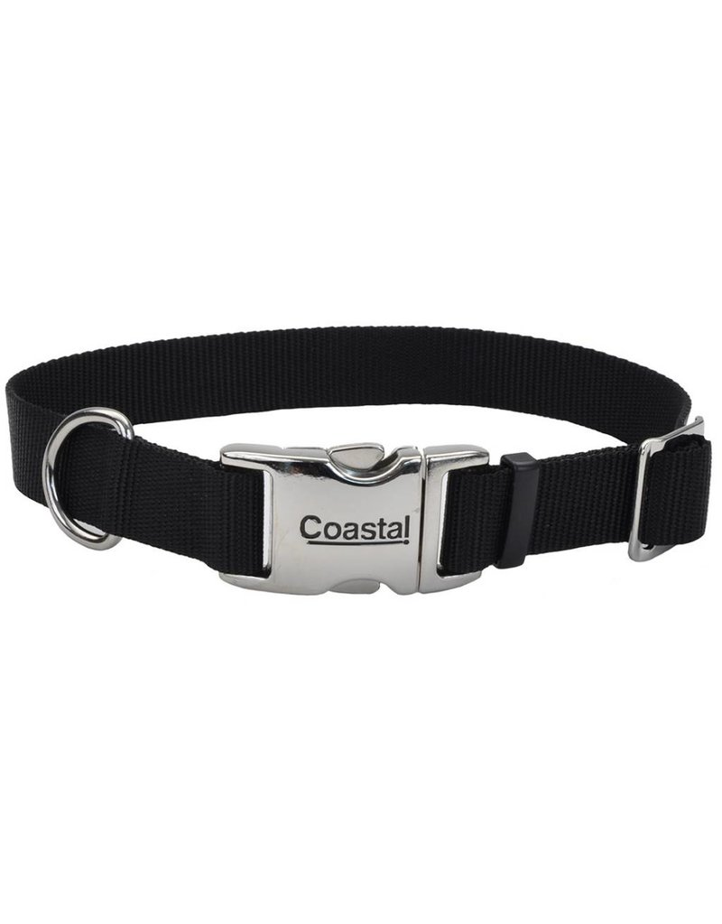 "Coastal Metal Buckle Collar Black 3/4""W 18""L"