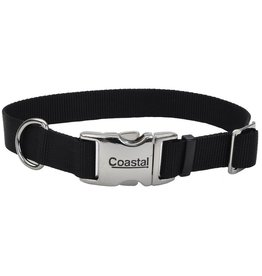 "Coastal 1"" Adjustable Metal Buckle Black 26"""