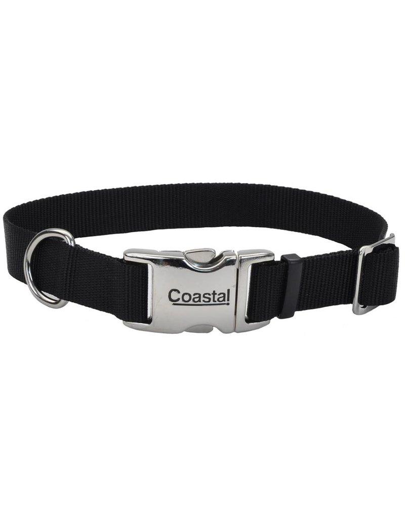 "Coastal Metal Buckle Collar Black 1""W 26""L"
