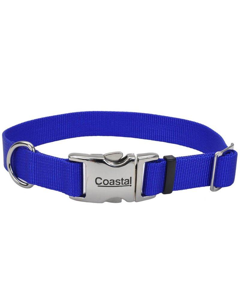 "Coastal Metal Buckle Collar Blue 1""W 26""L"
